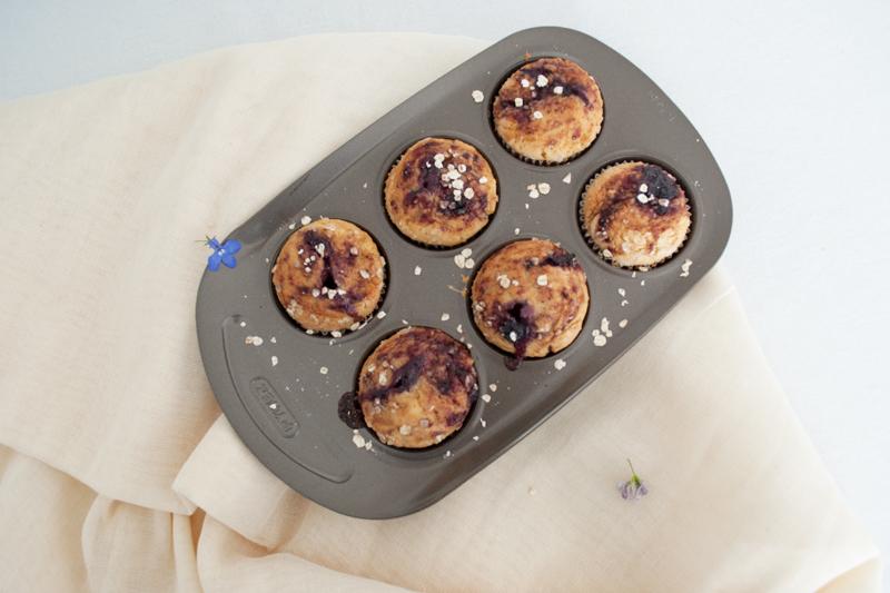 01_Muffins de avena rellenos de yogur y mermelada